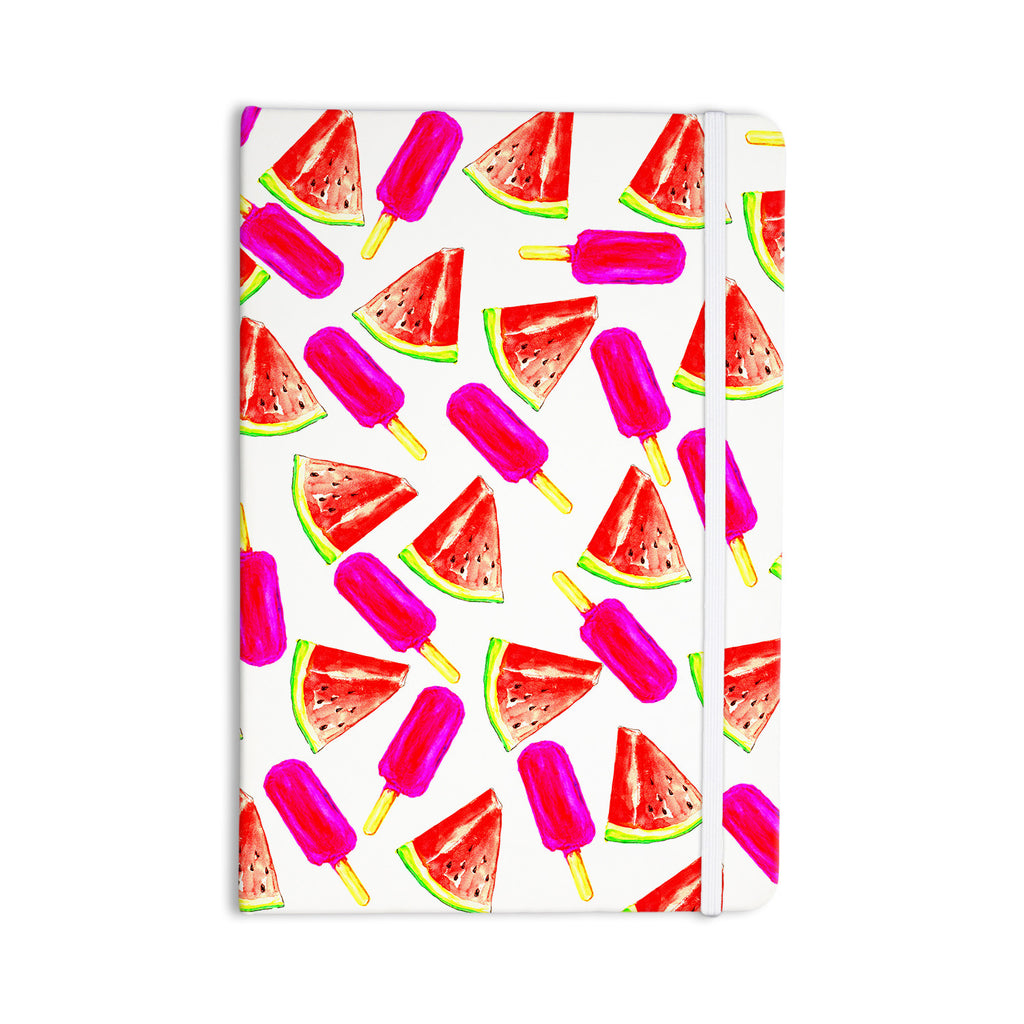"Sreetama Ray ""Strawberry & Watermelon"" Pink Red Everything Notebook - KESS InHouse  - 1"