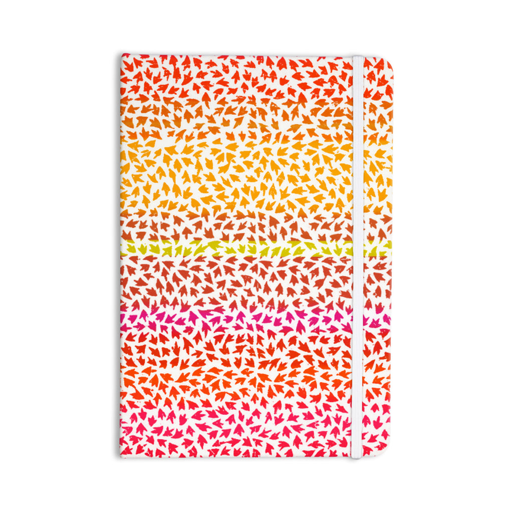 "Sreetama Ray ""Sunset Arrows"" Red Abstract Everything Notebook - KESS InHouse  - 1"