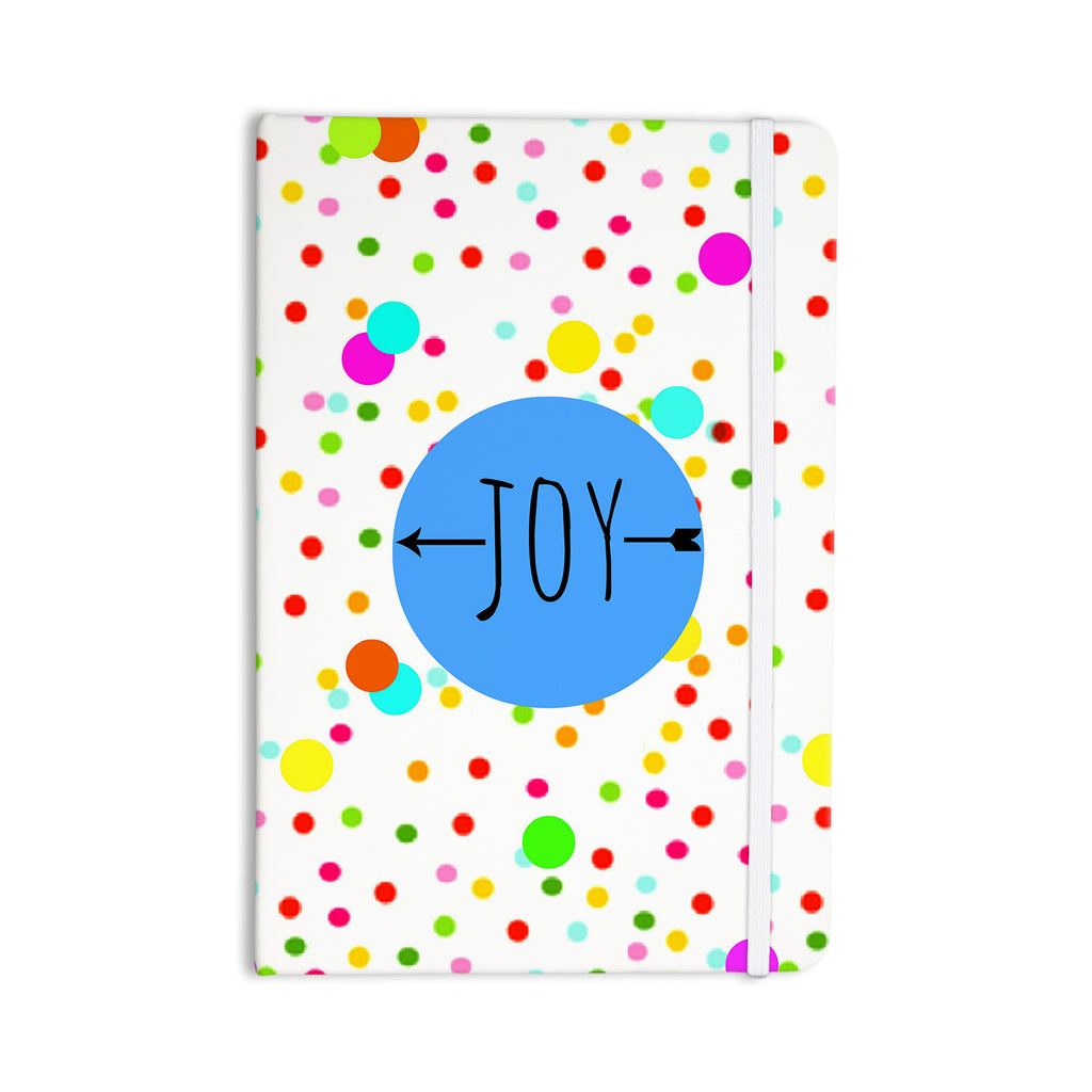 "Sreetama Ray ""Oh Joy"" Rainbow White Everything Notebook - KESS InHouse  - 1"