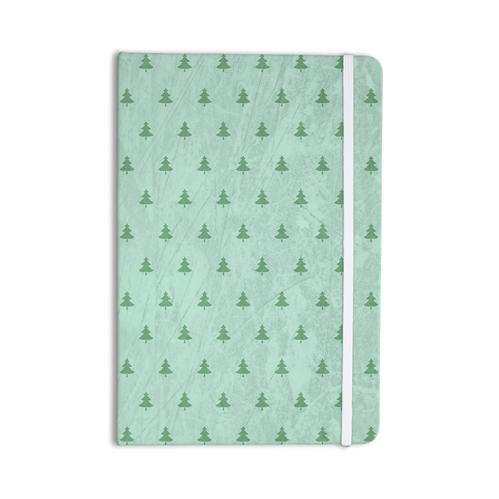 "Snap Studio ""Pine Pattern Green"" Teal Everything Notebook - KESS InHouse  - 1"