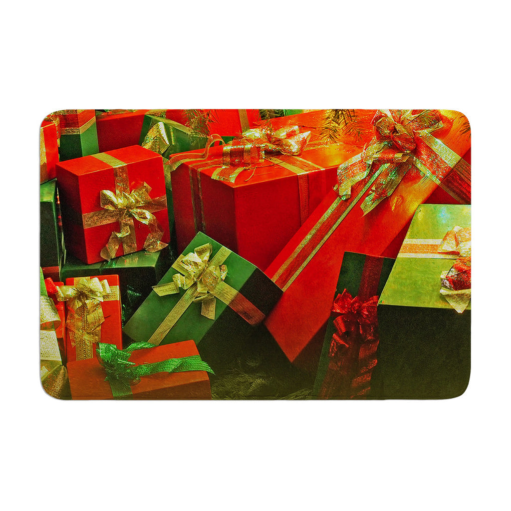 "Snap Studio ""Wrapped in Cheer"" Presents Memory Foam Bath Mat - KESS InHouse"