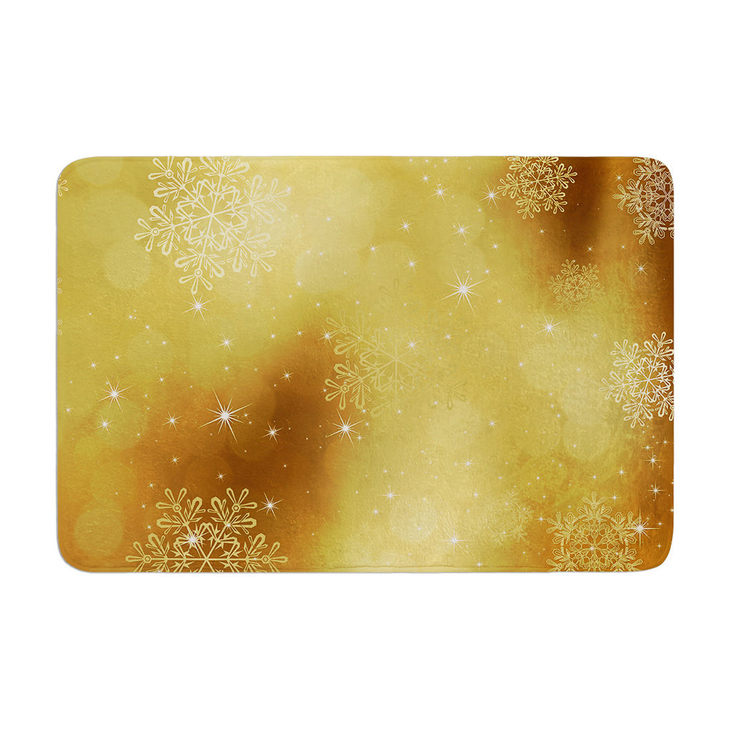 "Snap Studio ""Golden Radiance"" Yellow Memory Foam Bath Mat - KESS InHouse"