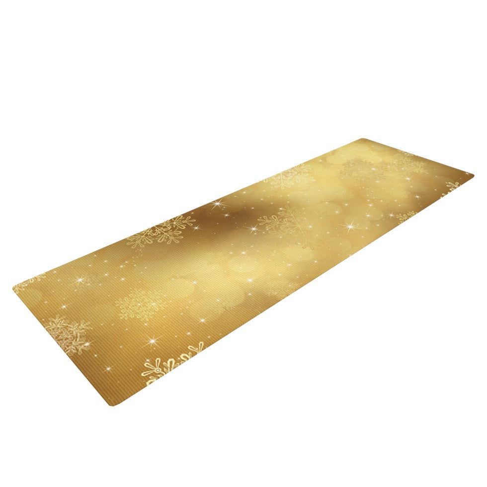 "Snap Studio ""Golden Radiance"" Yellow Yoga Mat - KESS InHouse  - 1"