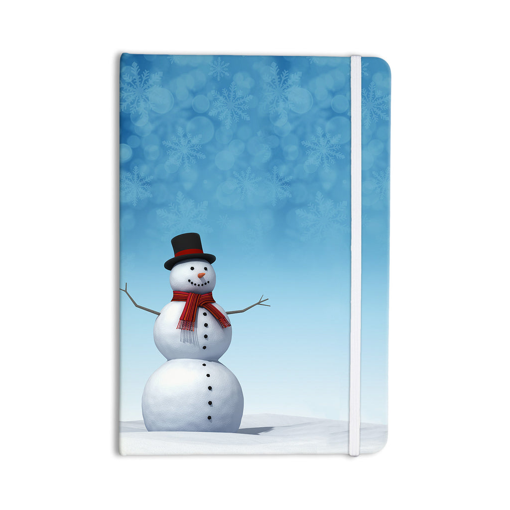 "Snap Studio ""Feelin' Frosty"" Blue White Everything Notebook - KESS InHouse  - 1"