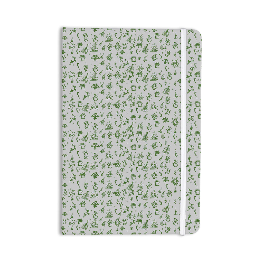 "Snap Studio ""Miniature Christmas Green"" Gray Everything Notebook - KESS InHouse  - 1"