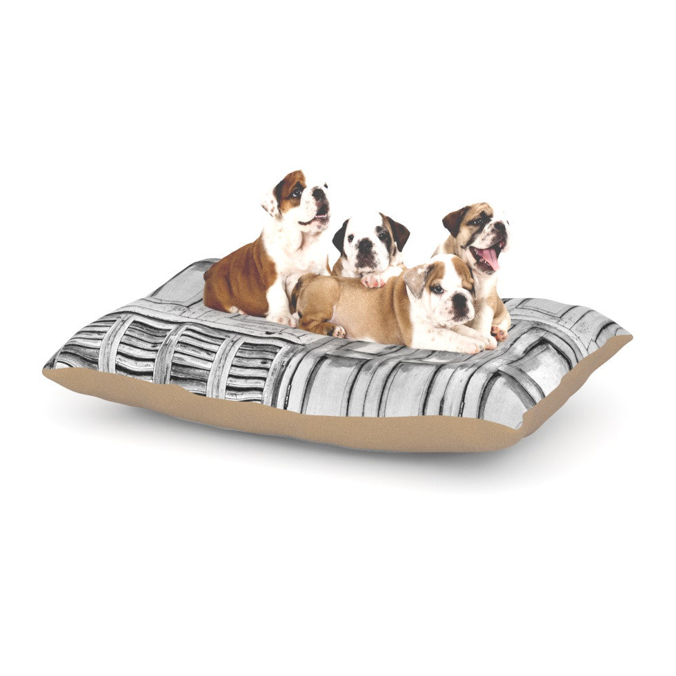 "Snap Studio ""Close the Door"" Gray Dog Bed - KESS InHouse  - 1"