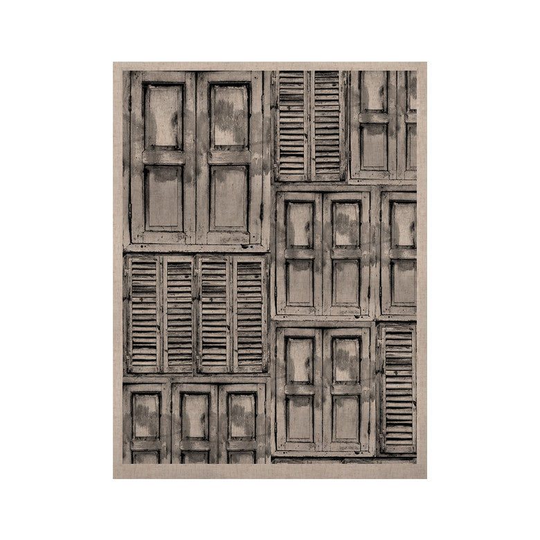 "Snap Studio ""Close the Door"" Gray KESS Naturals Canvas (Frame not Included) - KESS InHouse  - 1"