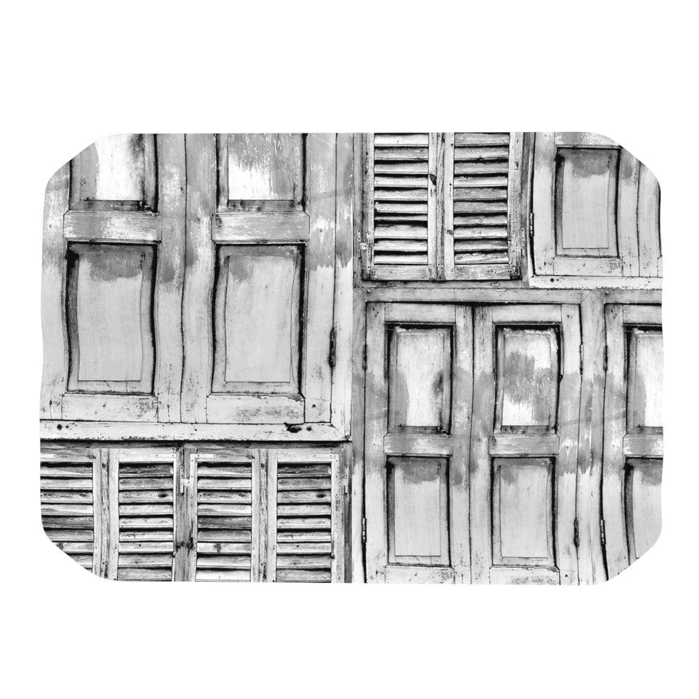 "Snap Studio ""Close the Door"" Gray Place Mat - KESS InHouse"