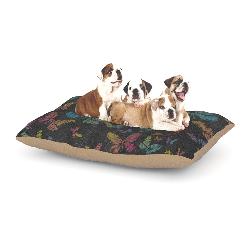 "Snap Studio ""Butterflies II"" Pastel Chalk Dog Bed - KESS InHouse  - 1"