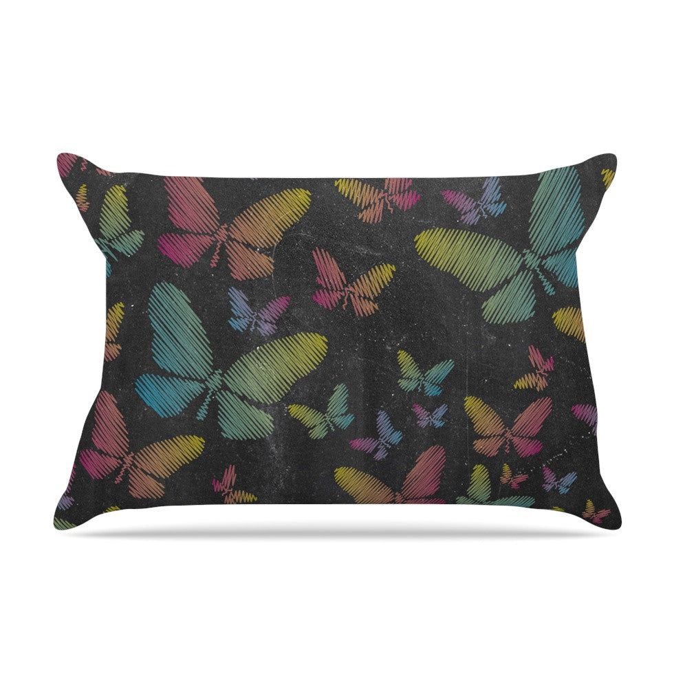 "Snap Studio ""Butterflies II"" Pastel Chalk Pillow Sham - KESS InHouse"