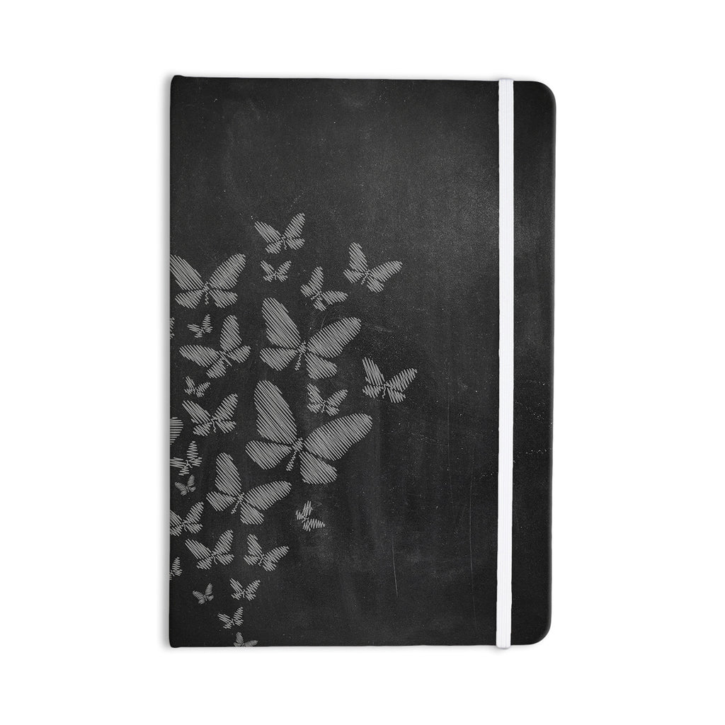 "Snap Studio ""Butterflies IV"" White Chalk Everything Notebook - KESS InHouse  - 1"