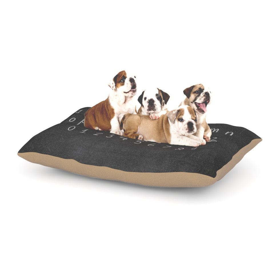 "Snap Studio ""ABC"" Gray Black Dog Bed - KESS InHouse  - 1"