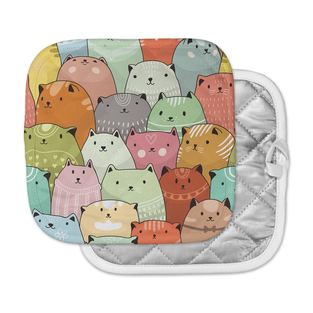 "Snap Studio ""Kitty Attack"" Cat Illustration Pot Holder"