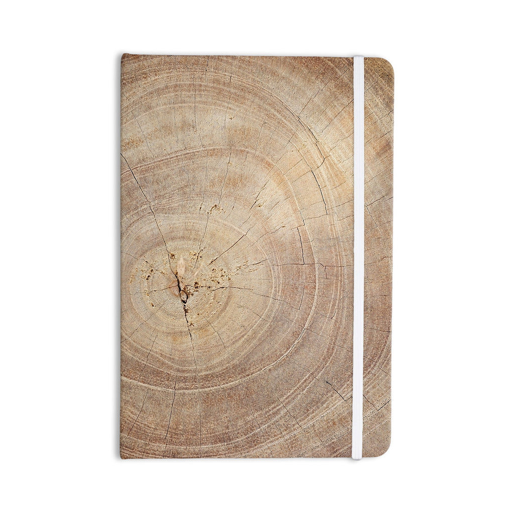 "Susan Sanders ""Aging Tree"" Wooden Everything Notebook - KESS InHouse  - 1"