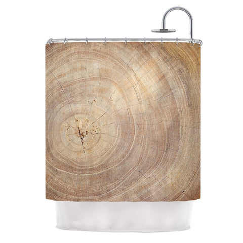 "Susan Sanders ""Aging Tree"" Wooden Shower Curtain - Outlet Item - KESS InHouse"