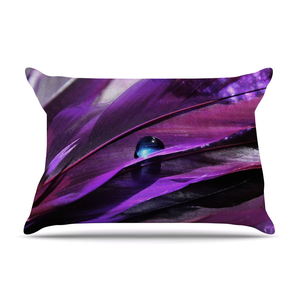 "Susan Sanders ""Birds of a Feather"" Nature Purple Pillow Sham - KESS InHouse"
