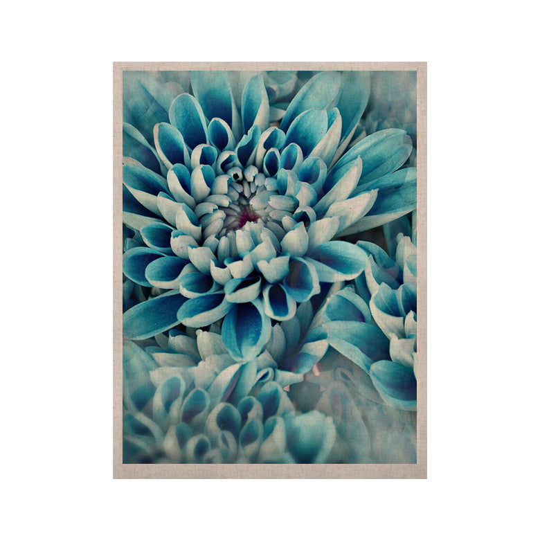 "Susan Sanders ""Floral Paradise"" Blue Flower KESS Naturals Canvas (Frame not Included) - KESS InHouse  - 1"