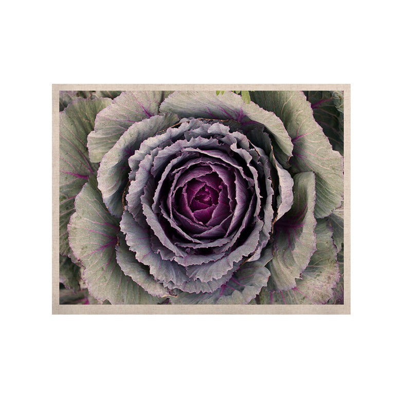"Susan Sanders ""Flower Love"" Purple Green KESS Naturals Canvas (Frame not Included) - KESS InHouse  - 1"