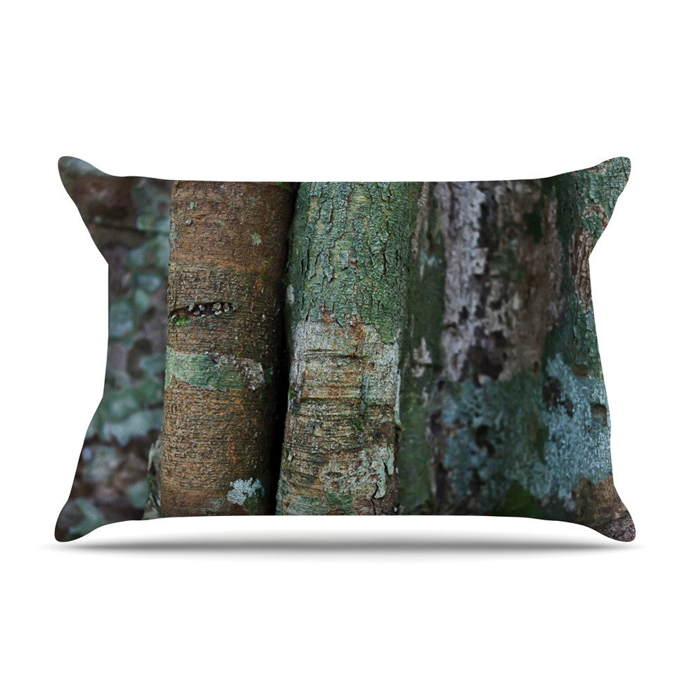 "Susan Sanders ""Into the Woods"" Brown Rustic Pillow Sham - KESS InHouse"