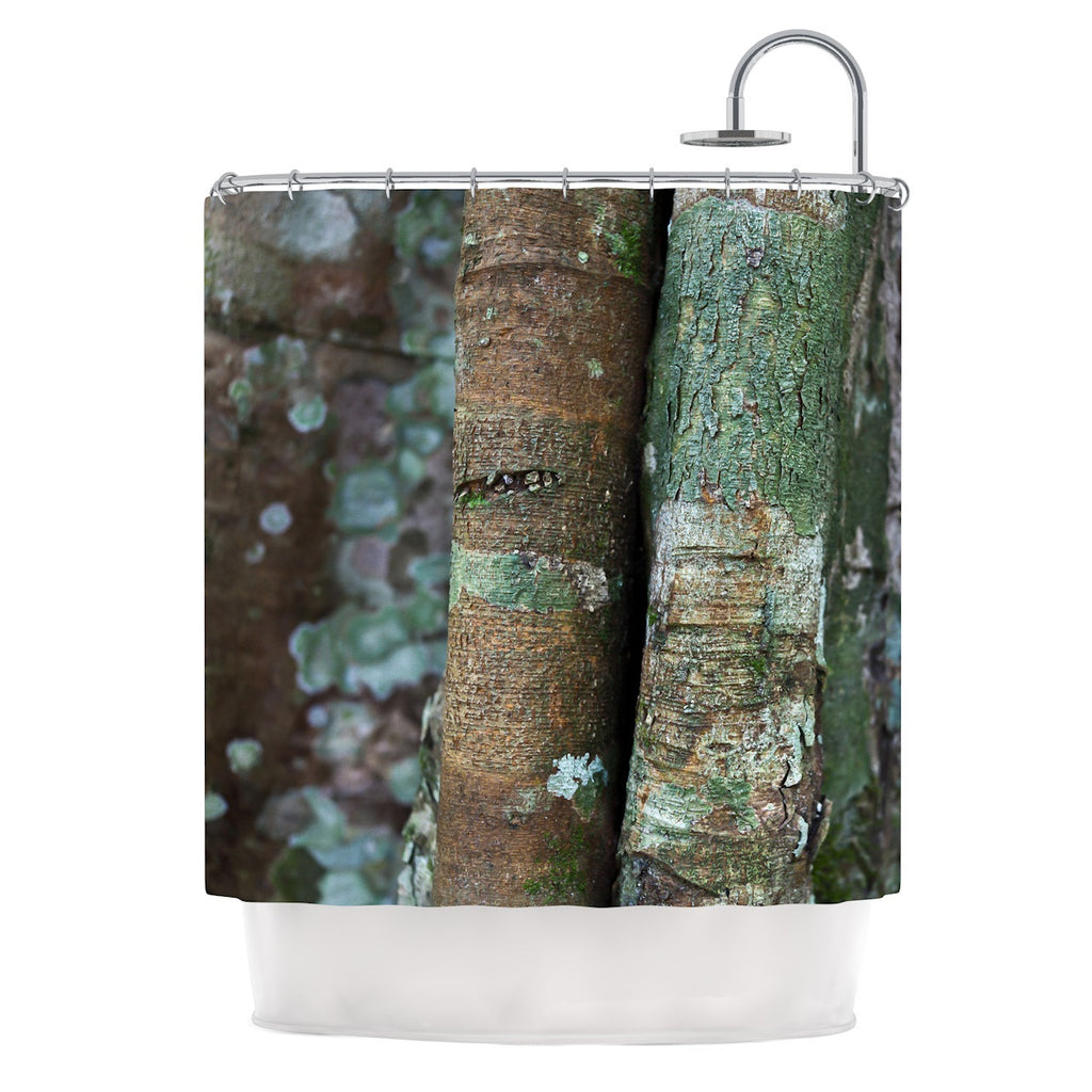 "Susan Sanders ""Into the Woods"" Brown Rustic Shower Curtain - KESS InHouse"