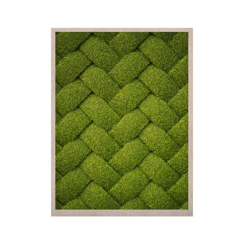 "Susan Sanders ""Ivy Basket"" Green Weave KESS Naturals Canvas (Frame not Included) - KESS InHouse  - 1"