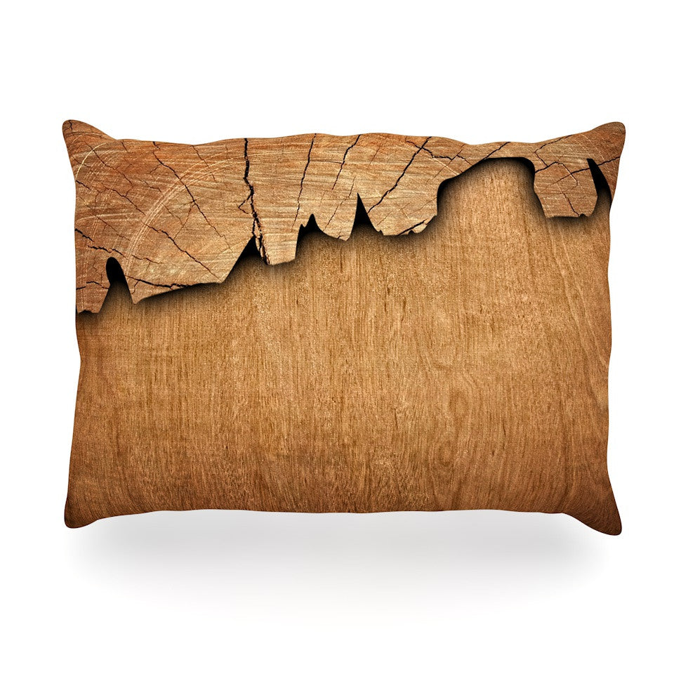 "Susan Sanders ""Natural Wood"" Rustic Nature Oblong Pillow - KESS InHouse"