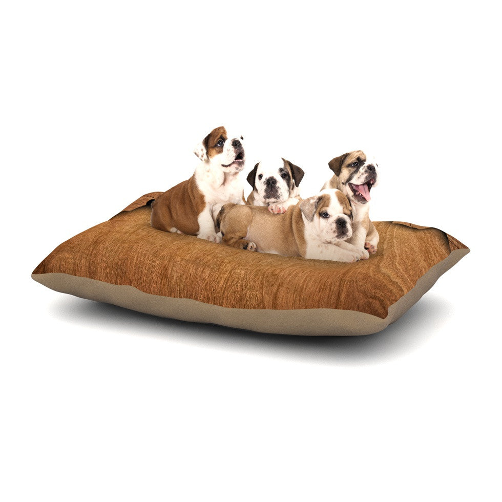"Susan Sanders ""Natural Wood"" Rustic Nature Dog Bed - KESS InHouse  - 1"
