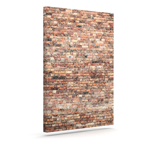 "Susan Sanders ""Rustic Bricks"" Orange Brown Canvas Art - Outlet Item"