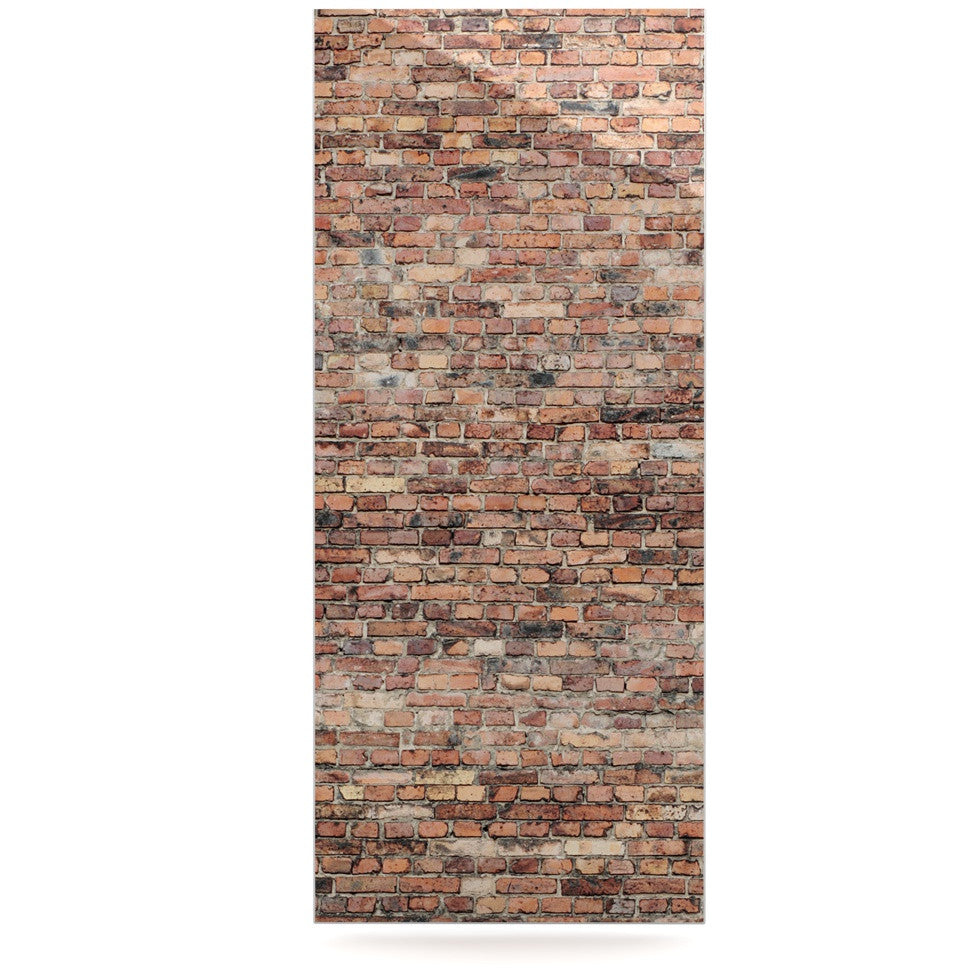 "Susan Sanders ""Rustic Bricks"" Orange Brown Luxe Rectangle Panel - KESS InHouse  - 1"