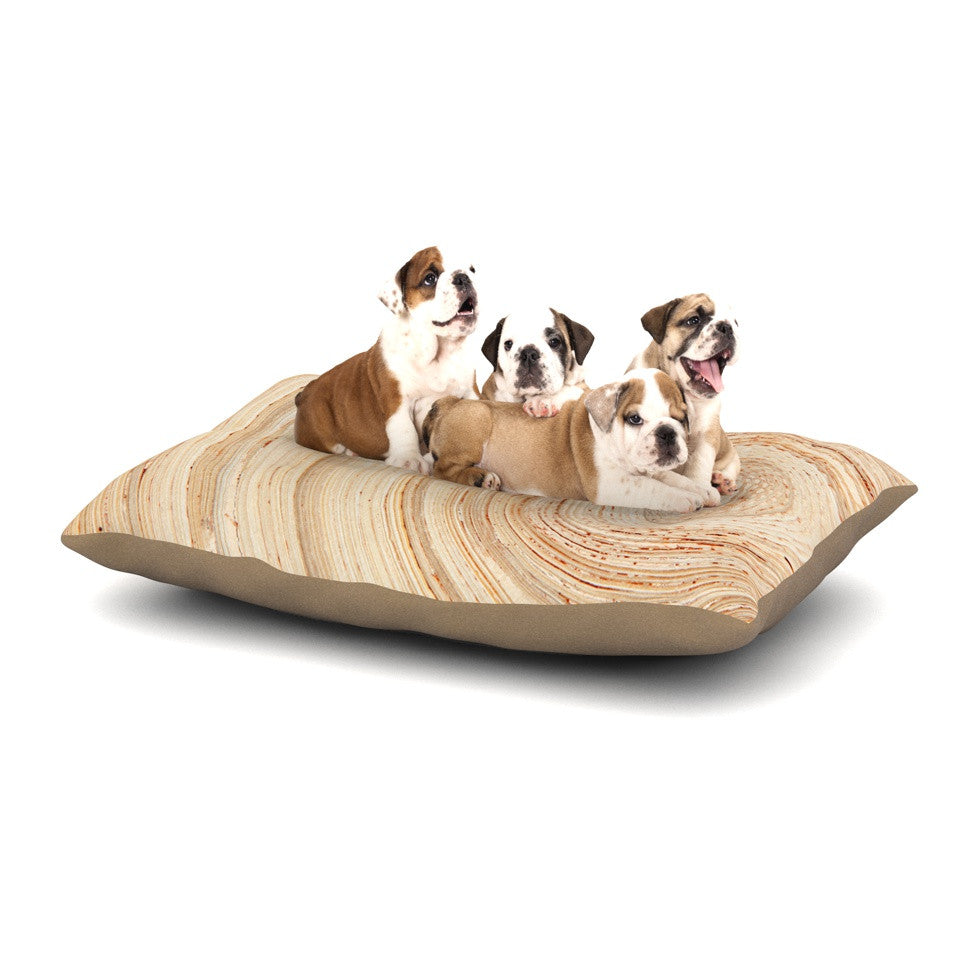 "Susan Sanders ""Ring of Life"" Tan Beige Dog Bed - KESS InHouse  - 1"