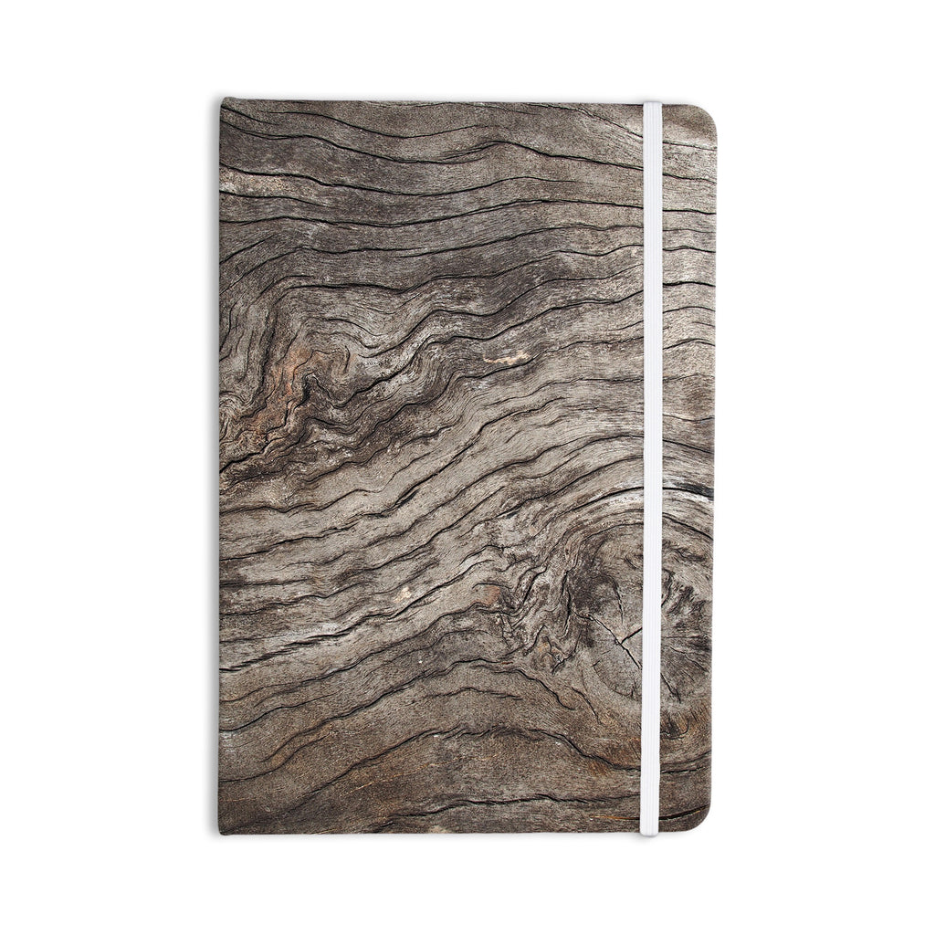 "Susan Sanders ""Tree Bark"" Brown Wooden Everything Notebook - KESS InHouse"