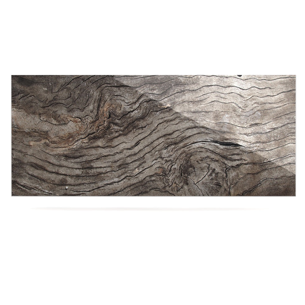 "Susan Sanders ""Tree Bark"" Brown Wooden Luxe Rectangle Panel - KESS InHouse  - 1"