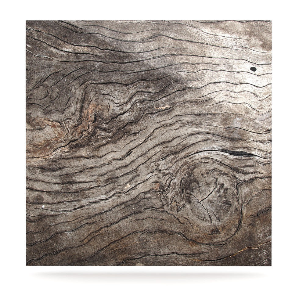 "Susan Sanders ""Tree Bark"" Brown Wooden Luxe Square Panel - KESS InHouse  - 1"
