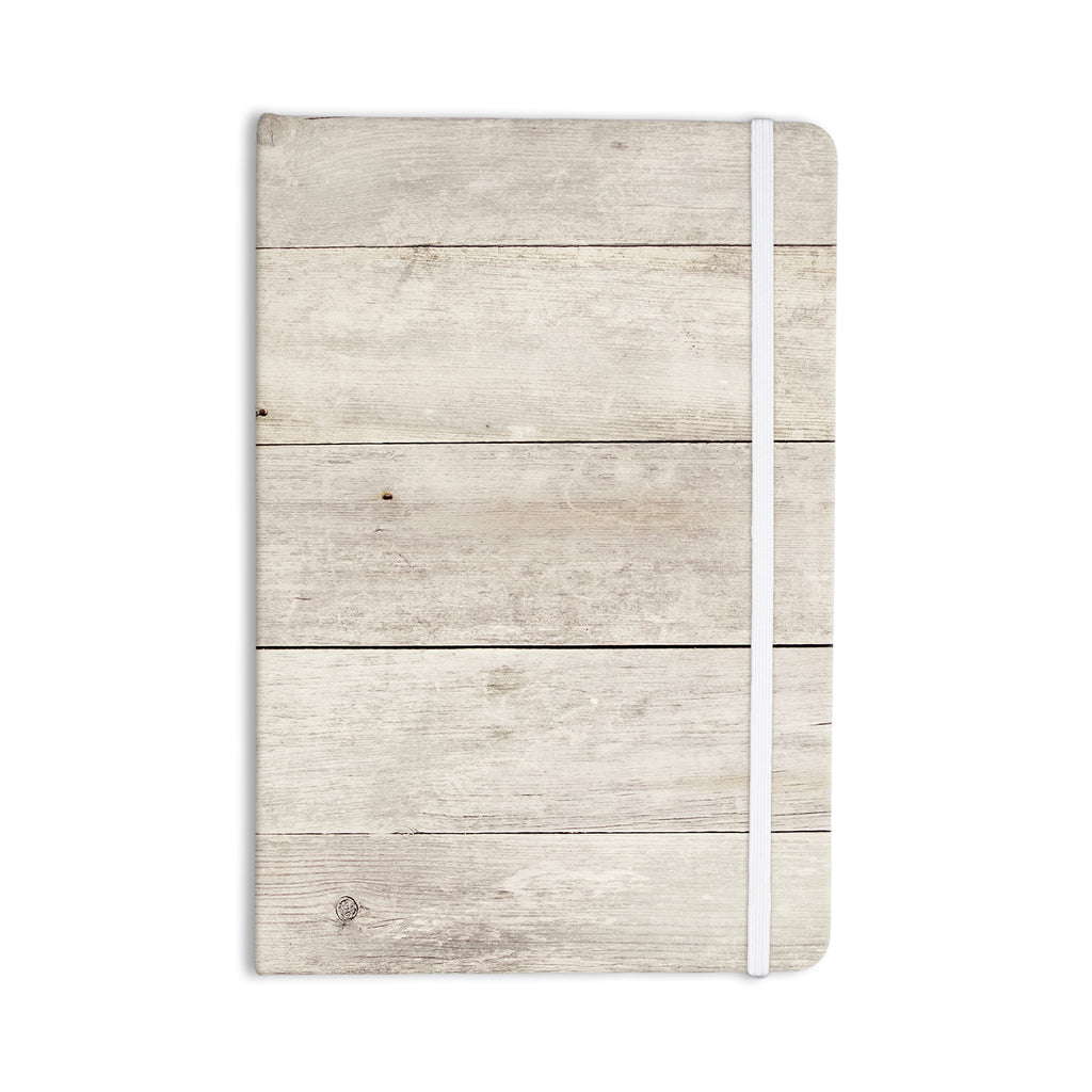 "Susan Sanders ""White Wash Wood"" Beige White Everything Notebook - KESS InHouse  - 1"