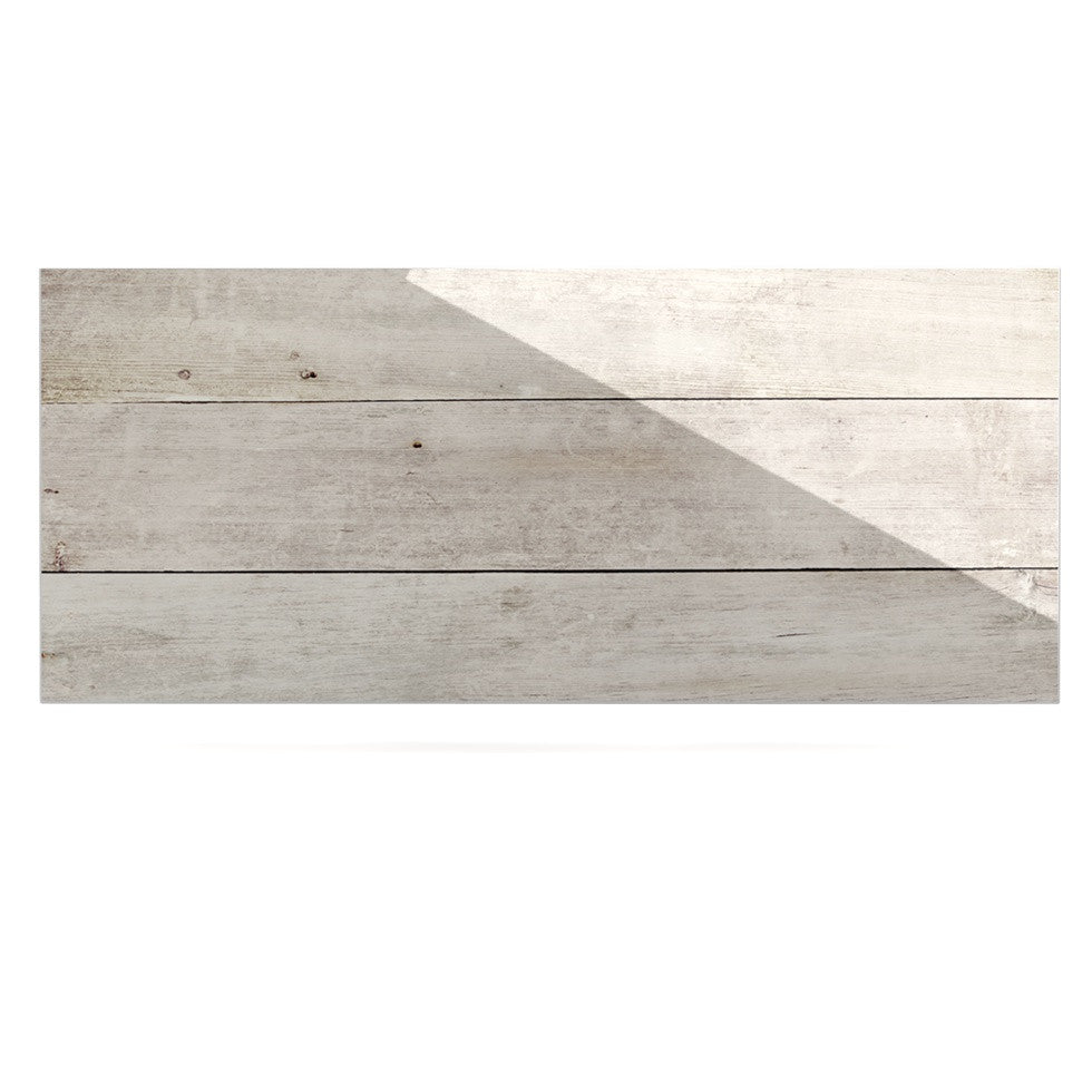 "Susan Sanders ""White Wash Wood"" Beige White Luxe Rectangle Panel - KESS InHouse  - 1"