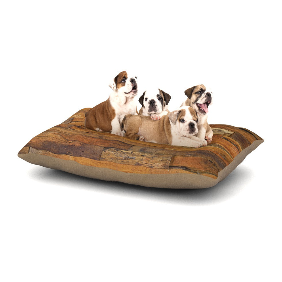 "Susan Sanders ""Woodstock"" Brown Tan Dog Bed - KESS InHouse  - 1"