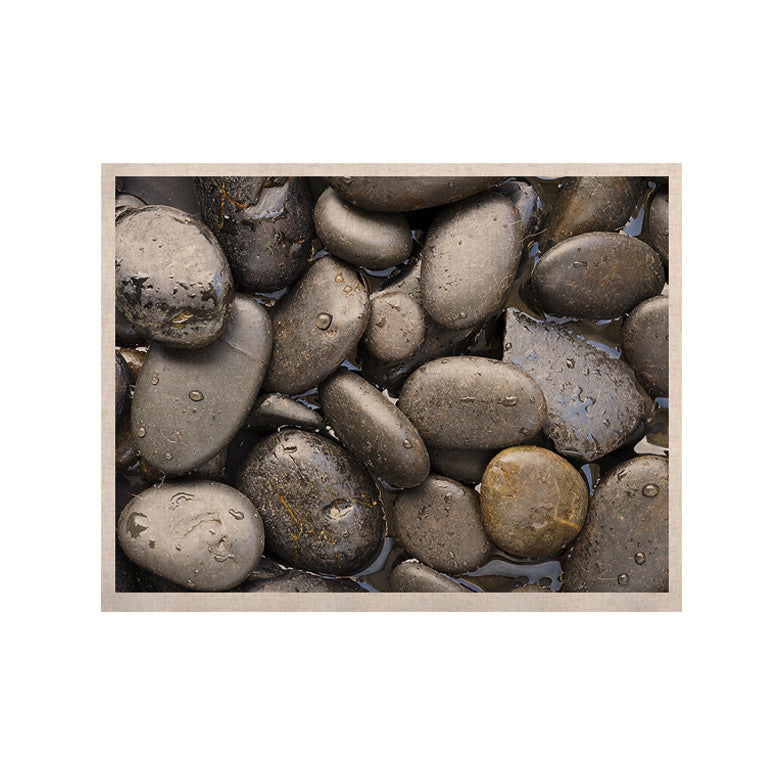 "Susan Sanders ""Skipping Stone"" Gray Rocks KESS Naturals Canvas (Frame not Included) - KESS InHouse  - 1"