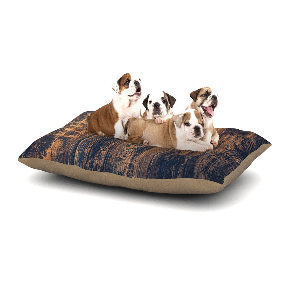 "Susan Sanders ""Barn Floor"" Rustic Dog Bed - KESS InHouse  - 1"