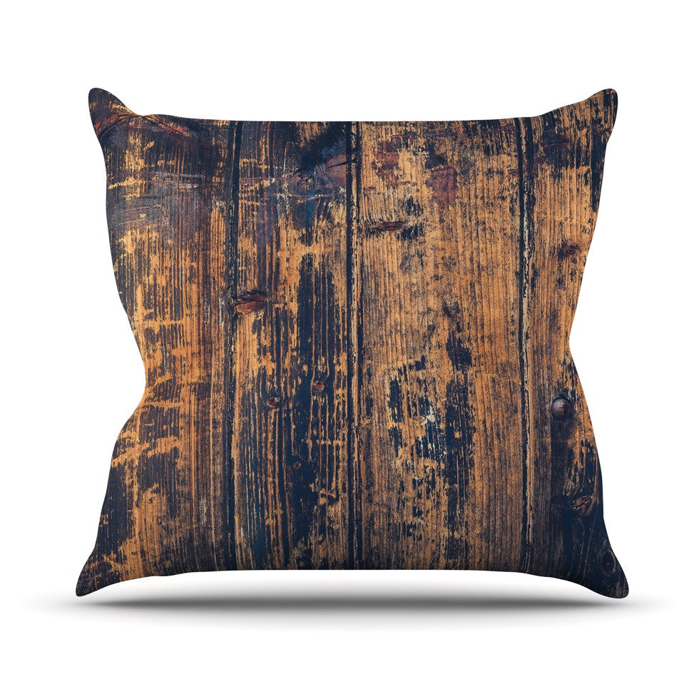 "Susan Sanders ""Barn Floor"" Rustic Outdoor Throw Pillow - KESS InHouse  - 1"