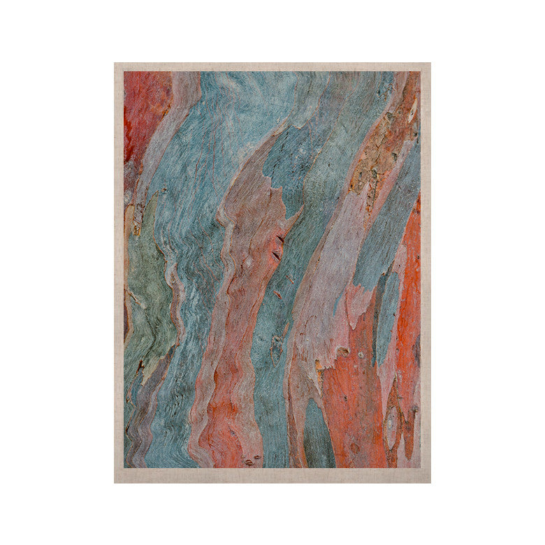 "Susan Sanders ""Beach Dreams"" Orange Blue KESS Naturals Canvas (Frame not Included) - KESS InHouse  - 1"