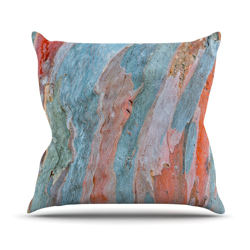 "Susan Sanders ""Beach Dreams"" Orange Blue Outdoor Throw Pillow - KESS InHouse  - 1"