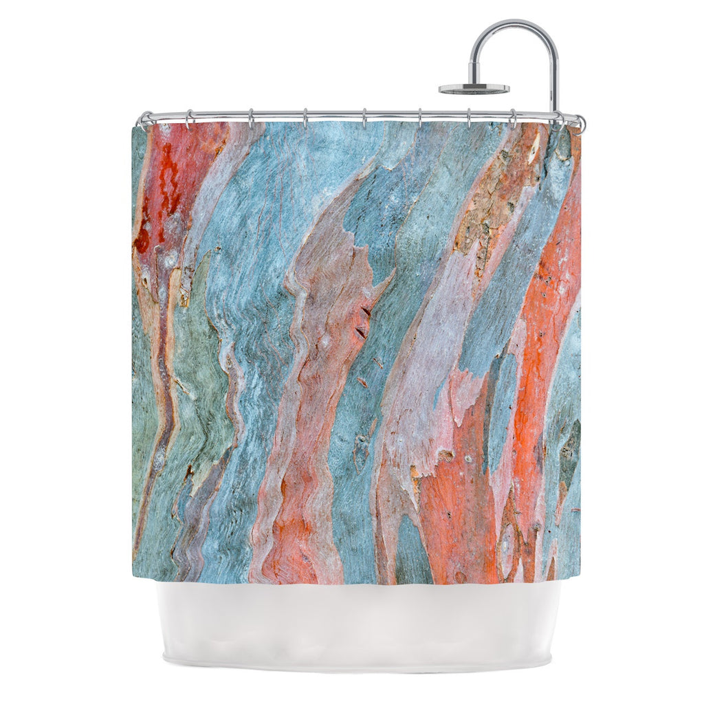 "Susan Sanders ""Beach Dreams"" Orange Blue Shower Curtain - KESS InHouse"