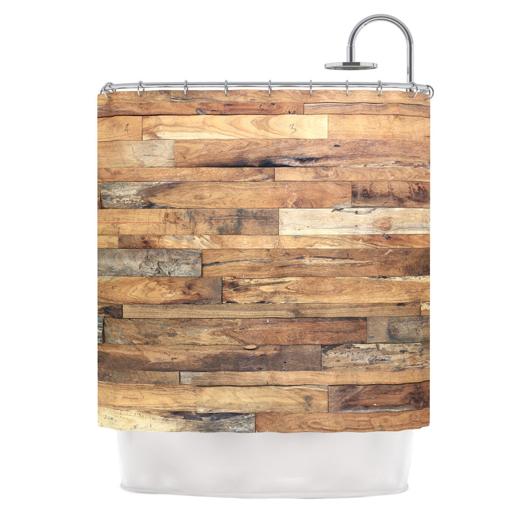 "Susan Sanders ""Campfire Wood"" Rustic Shower Curtain - KESS InHouse"