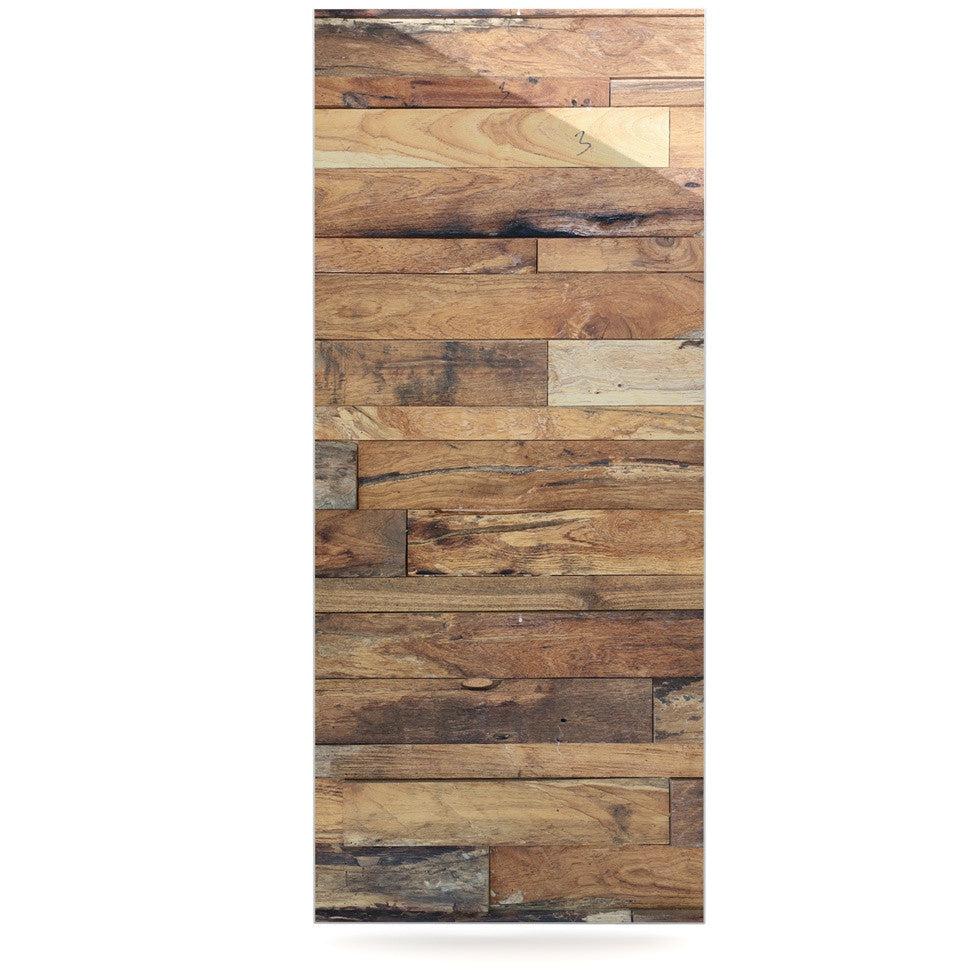 "Susan Sanders ""Campfire Wood"" Rustic Luxe Rectangle Panel - KESS InHouse  - 1"