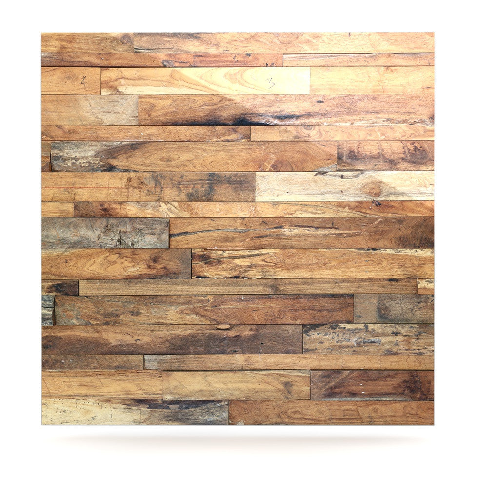 "Susan Sanders ""Campfire Wood"" Rustic Luxe Square Panel - KESS InHouse  - 1"