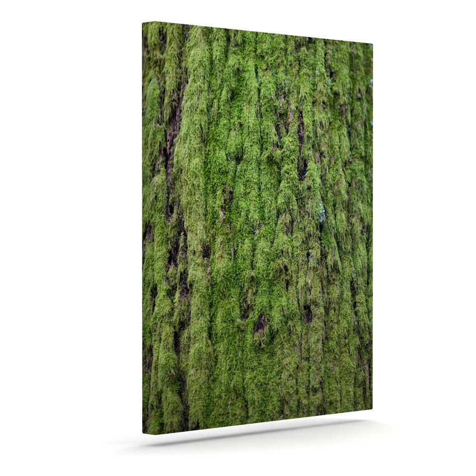 "Susan Sanders ""Emerald Moss"" Green Nature Canvas Art - KESS InHouse  - 1"