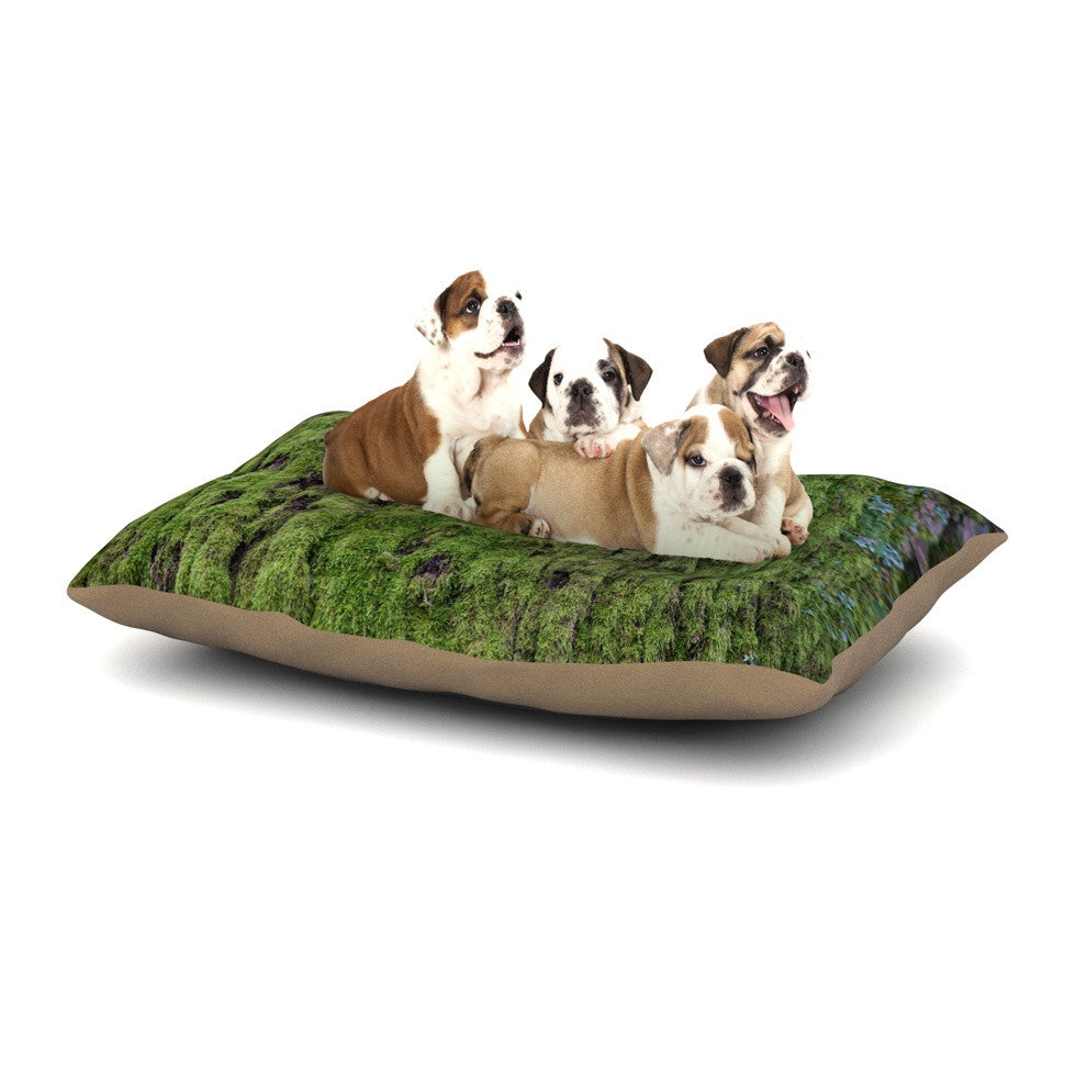 "Susan Sanders ""Emerald Moss"" Green Nature Dog Bed - KESS InHouse  - 1"