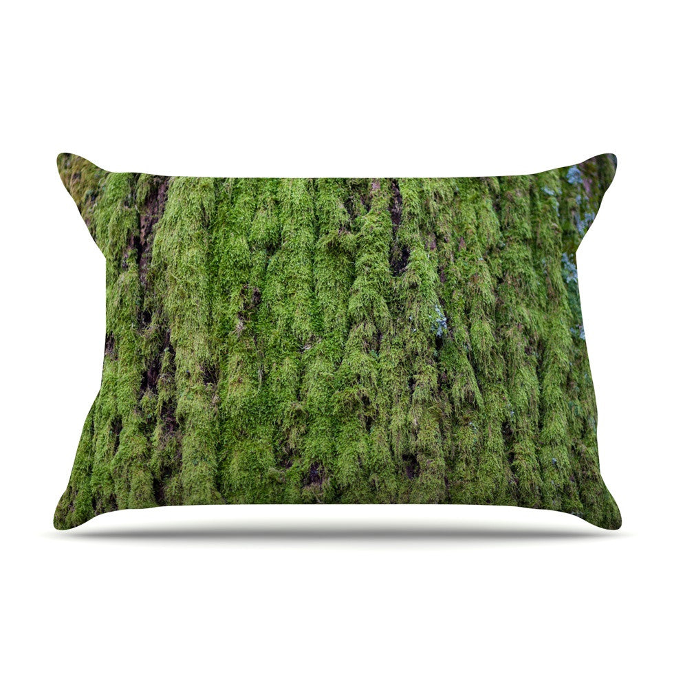 "Susan Sanders ""Emerald Moss"" Green Nature Pillow Sham - KESS InHouse"