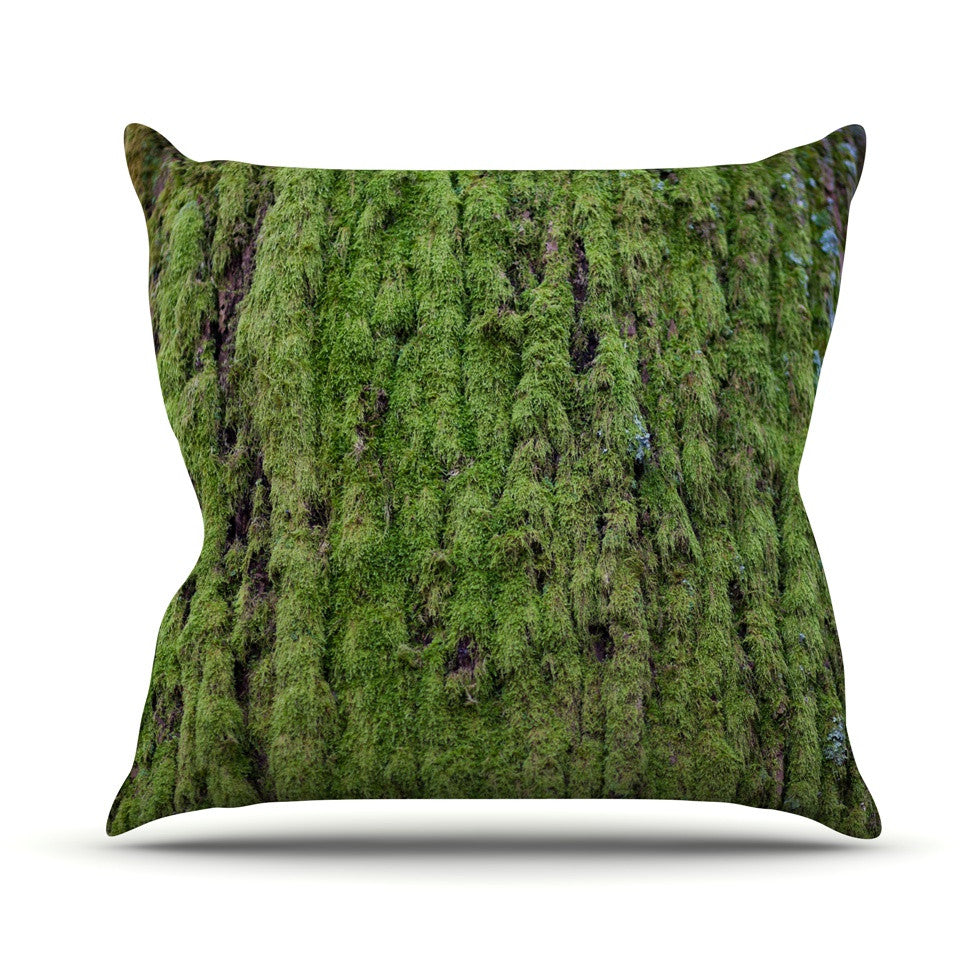 "Susan Sanders ""Emerald Moss"" Green Nature Outdoor Throw Pillow - KESS InHouse  - 1"