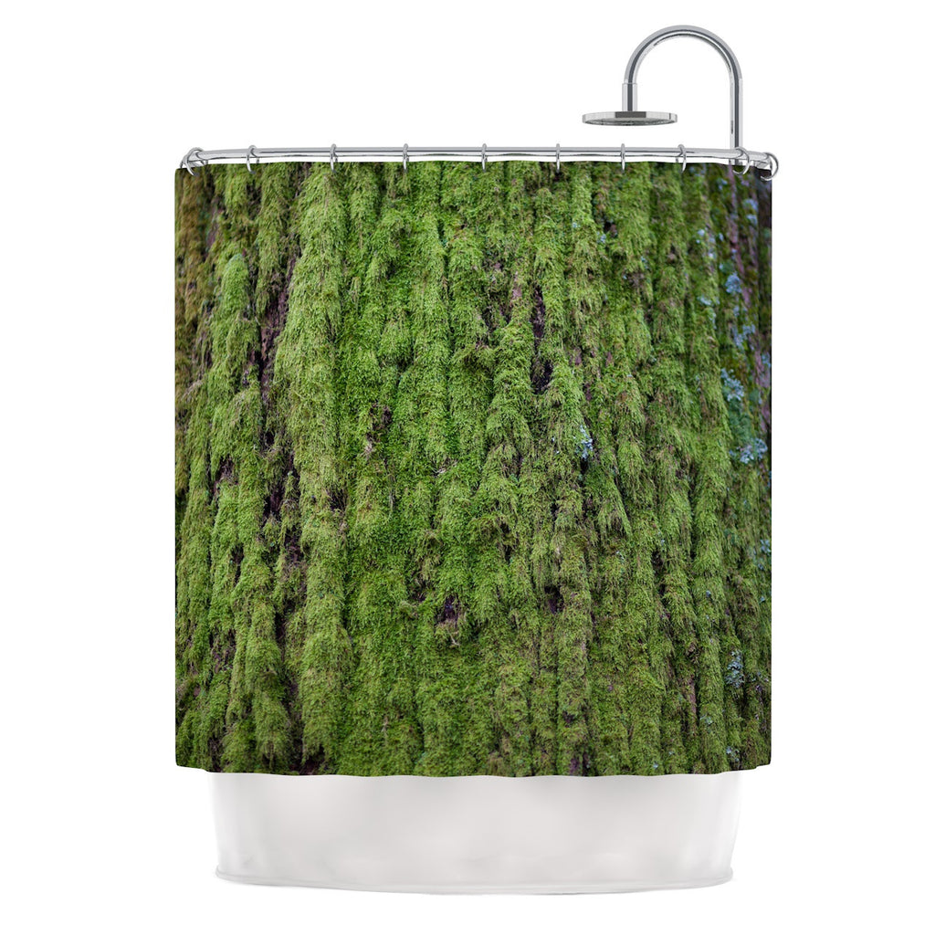"Susan Sanders ""Emerald Moss"" Green Nature Shower Curtain - KESS InHouse"